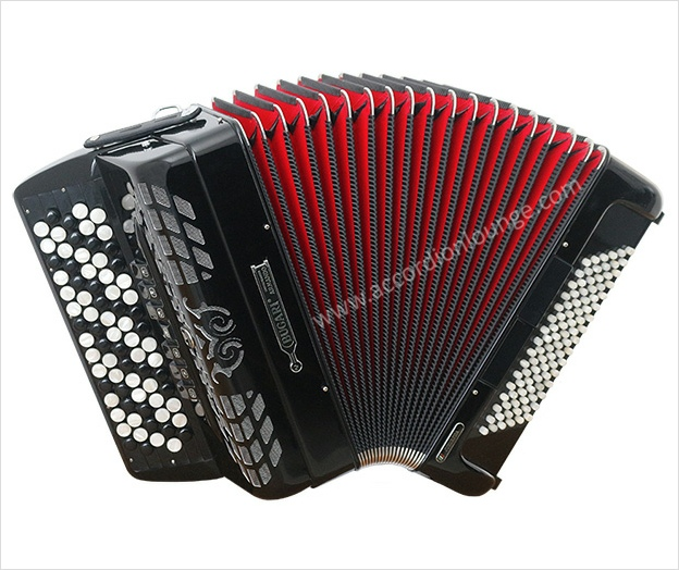 Bugari Juniorfisa 320/J 96 Bass Chromatic Button Accordion - Accordion Lounge