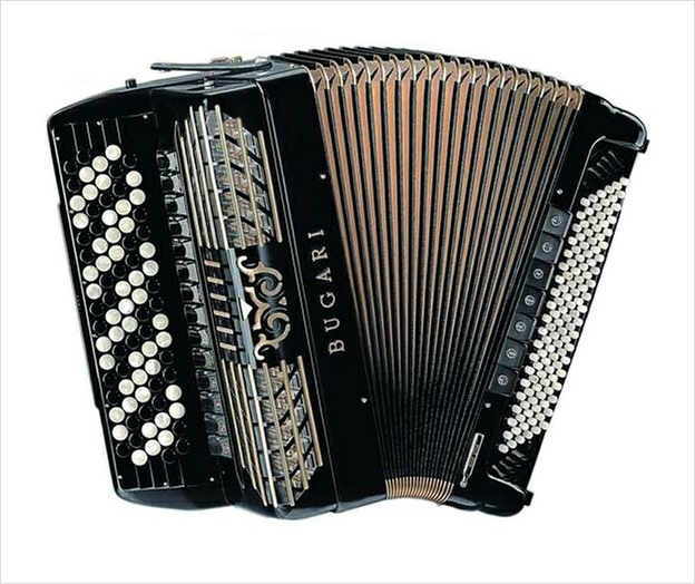 Bugari Armando 508 Gold Plus Chromatic Accordion - The Accordion Lounge