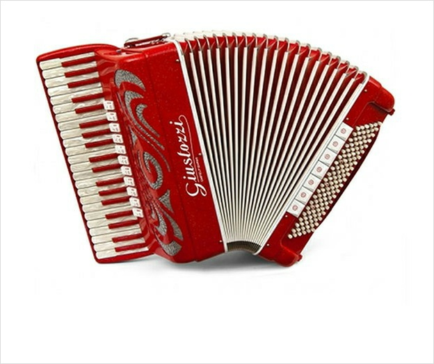 Giustozzi Mod 14/MSR Compact Musette Piano Accordion - The Accordion Lounge